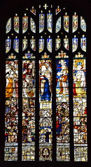 Saints including St Christopher and St Anne and donors, 16th Century
