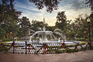 Forsyth Park Fountain. Savannah, Ga