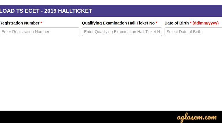 TS ECET 2020 Hall Ticket