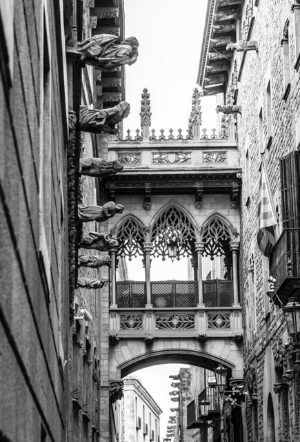 Spain - Barcelona - Gothic Quarter - Bishop's Bridge