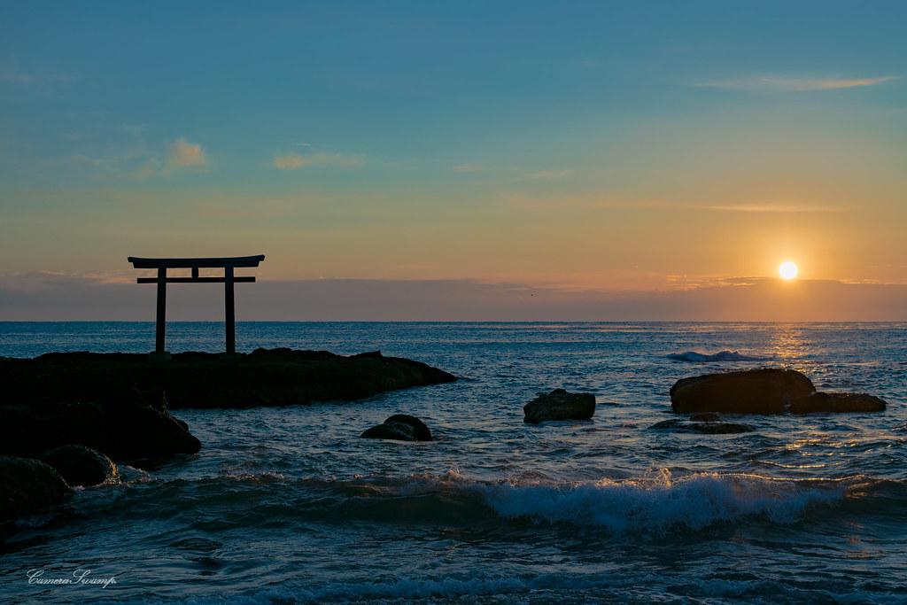 初日の出/大洗/神磯の鳥居/磯前神社 【2017-01-01】