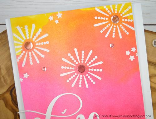 She Sells Seashells Sunshine July Fireworks JenCarter closeup 1