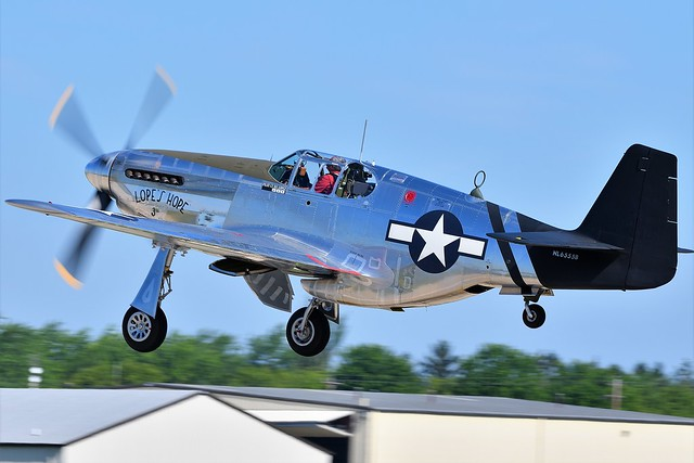 2AA_2565 North American P51C Mustang Lopes Hope the 3rd NL6555B Last Military Serial 43-24907 USAAF