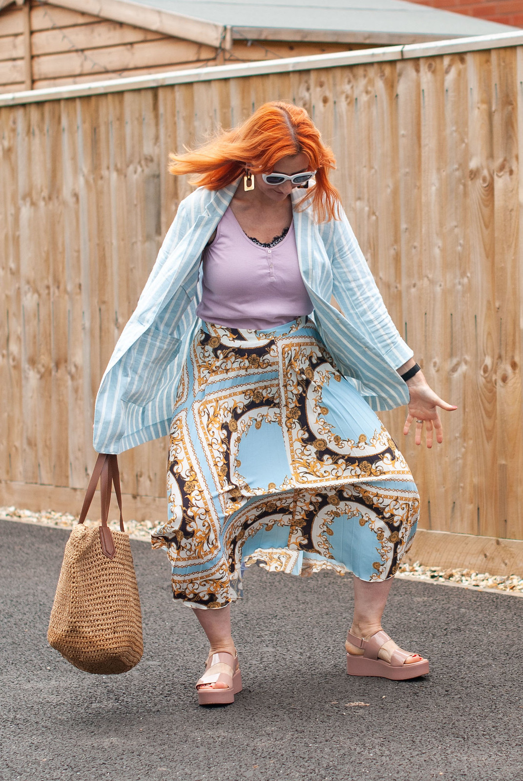 Not Dressed As Lamb Fashion Blogger Bloopers & Outtakes 2019 | The one where I clearly showed the wind's effect on my skirt