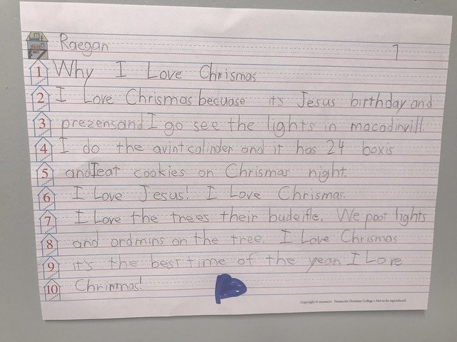 Miss Mullis 1st grade Why I Love Christmas