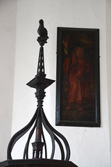 font cover (17th Century) and Moses (18th century)