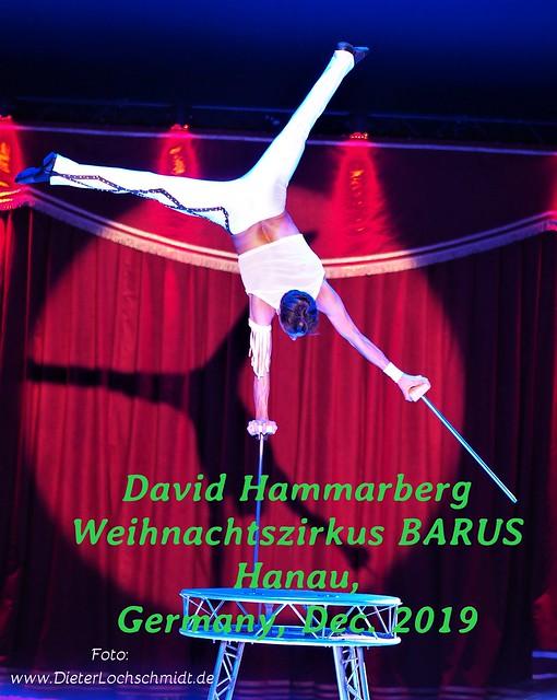 David Hammarberg during the Christmas Circus Barus Show in Hanau, Germany - Dec. 30, 2019