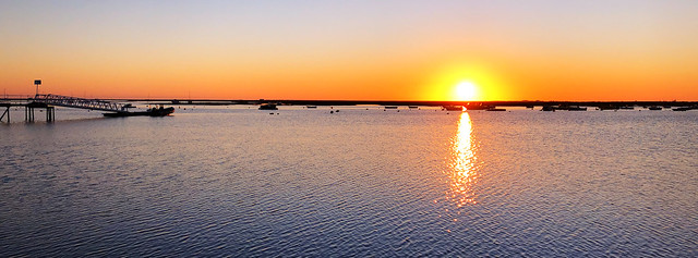 Sunset in Faro, Portugal - last day of 2019