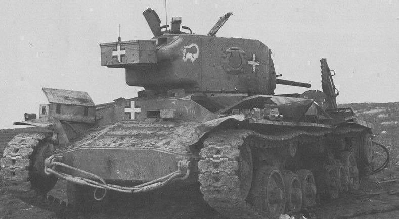 captain-price-official: Captured Valentine Mk III in German service, knocked out in Libya. Apr 1941