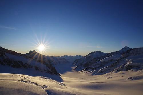 jungfraujoch switzerland alps mountains 2019 itzlä pentaxk1 landscape sky oberland topofeurope glacier aletschgletscher sun sunsetsunrise sunrise
