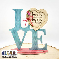 Love Desktop Wood Word Frame