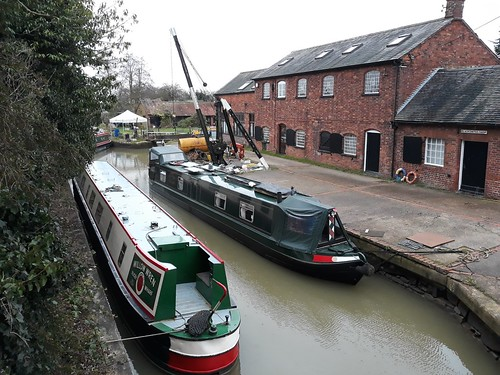 Canal boats at Hillmorton