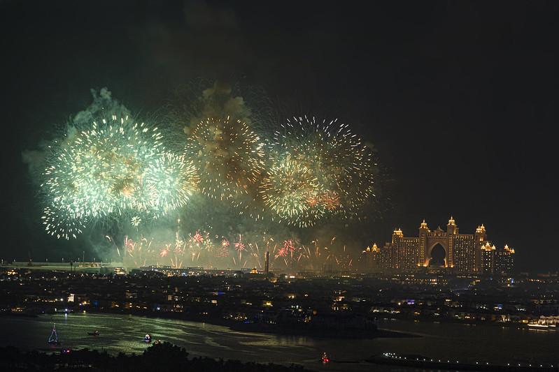 Dubai Palm Jumeirah New Year 2020