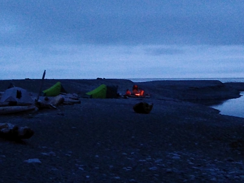 Having a campfire on the beach in the evening is one of the fun things to do on the West Coast Trail