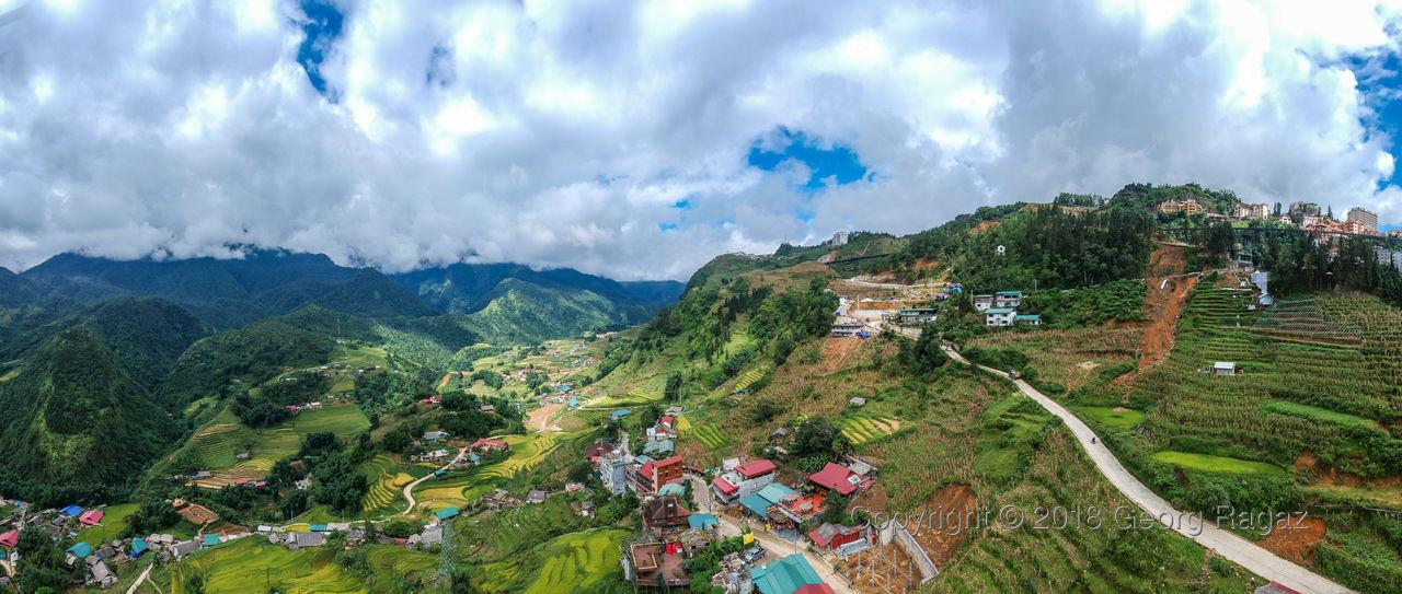 Vietnam, Lào Cai, Sa Pa (Aerial)