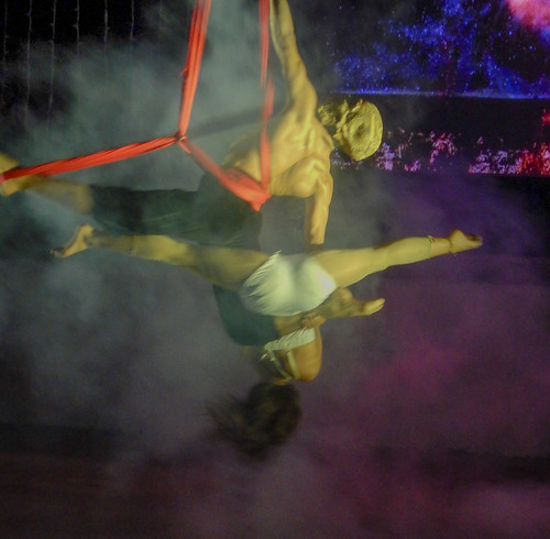 Acrobatic show at the amphitheatre in Puerto Vallarta, Mexico