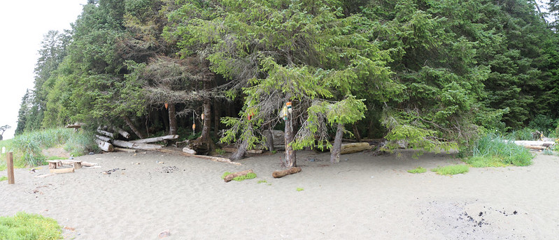 Bonilla Point Campsite on the West Coast Trail