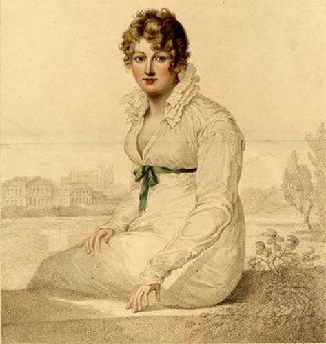 Jane Austen, line by line every 15 minutes. The image you see is by William Blake of Mrs. Q. (Mrs. Harriet Quentin), a 1820 engraving based upon a portrait by Francois Huet Villiers from the British Museum.
