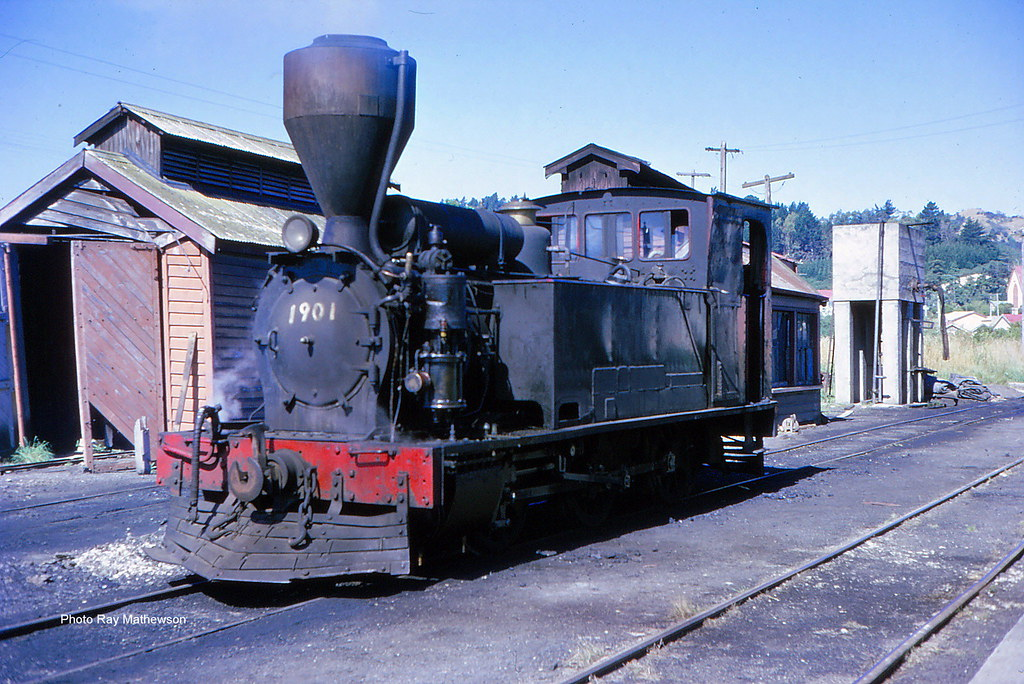 RM The mines dept. 0-6-0 in the yards at Kaitangata.