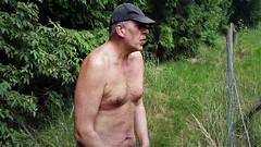 topless hiking