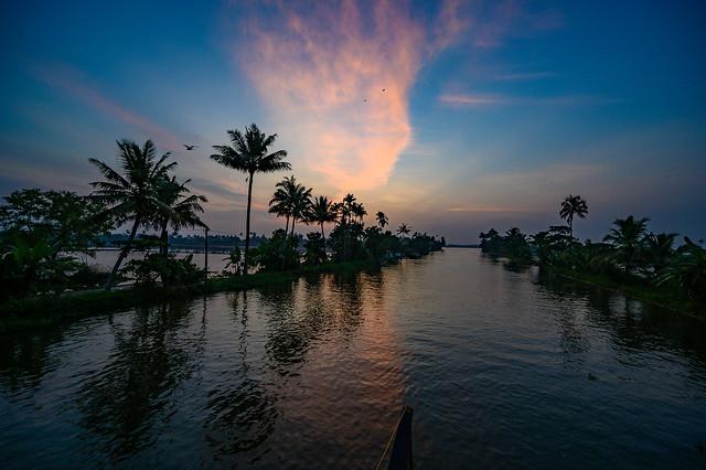India - Kerala - Houseboat - Sunset - 4417