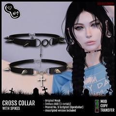 Six Feet Under - Cross Collar