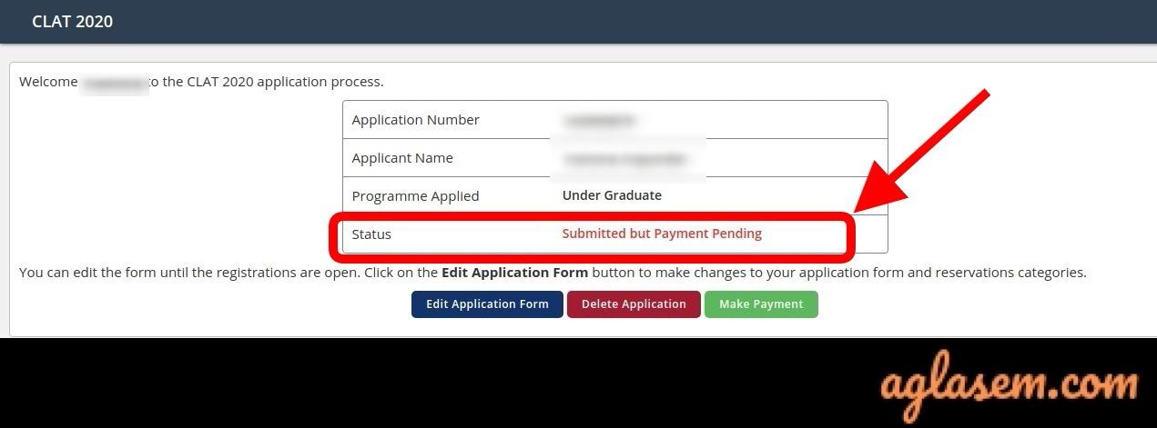 CLAT 2020 Application Form