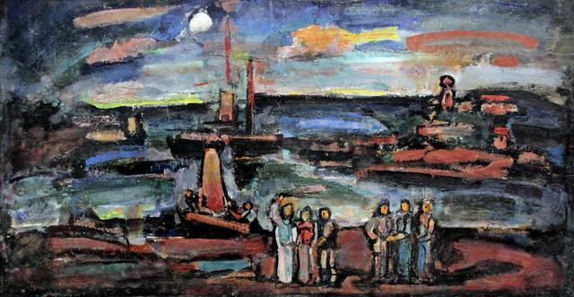 IMG_2129 Georges Rouault 1871-1958 Paris Le Christ et les  pêcheurs  1937 Musée d'Art Moderne de la Ville de Paris (Palais de Tokyo)
