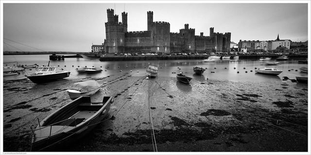 Caernarfon Castle / Gwynedd, North Wales, UK