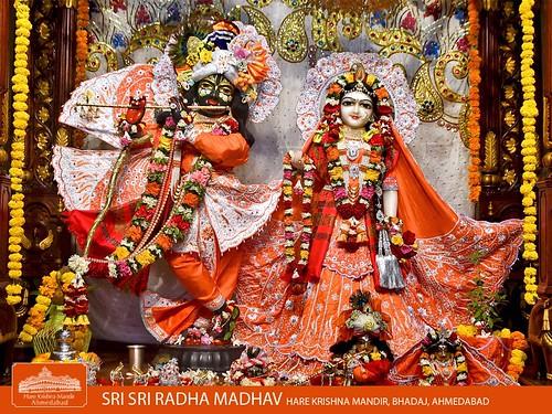Hare Krishna Temple Ahmedabad Deity Darshan 01 Jan 2020