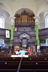 pulpit and organ