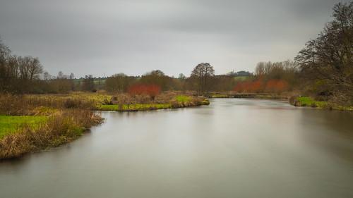 river rivertest trees longstock longexposure hampshire