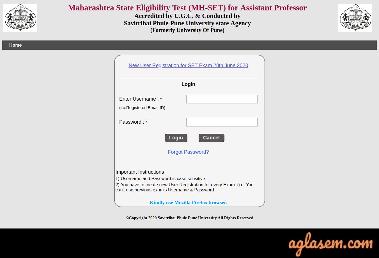 Maharashtra SET Application Form Maharashtra SET Application Form 2020 (Process Over) - Apply Online @setexam.unipune.ac.in