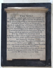 This Tablet records the ample and judicious munificence of Edward Manning, Gentleman