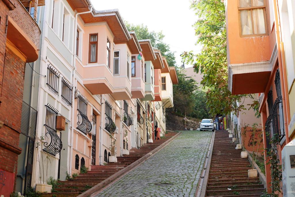 Balat-彩色房子大斜坡