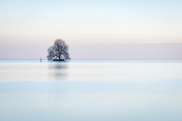 Lake Leman, Villeneuve, Switzerland