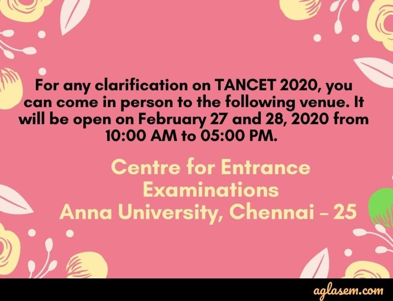 TANCET 2020 contact details