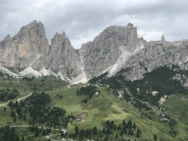 Passo Gardena in the Distance