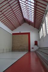 Fronton mur à gauche, trinquet d'Uztárroz-Uztarroze, comarque de Roncal-Salazar, ,communauté forale de Navarre, Espagne.