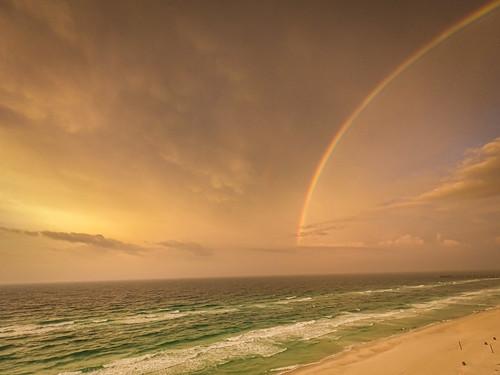 panamacitybeach florida unitedstatesofamerica sunrise sunshine rainbow arc