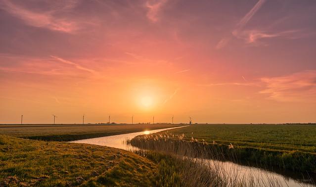 Sunlight meandering through Holland.