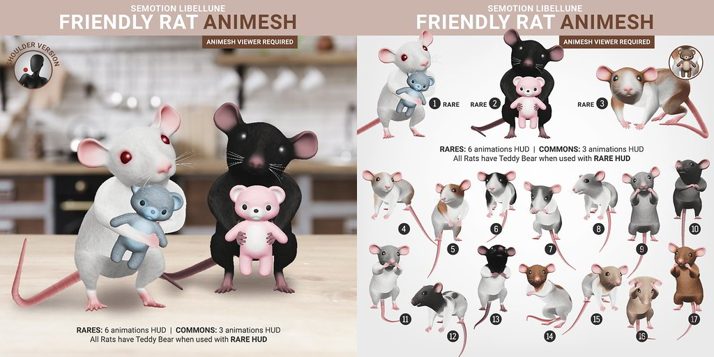 SEmotion Libellune Friendly Rat Animesh