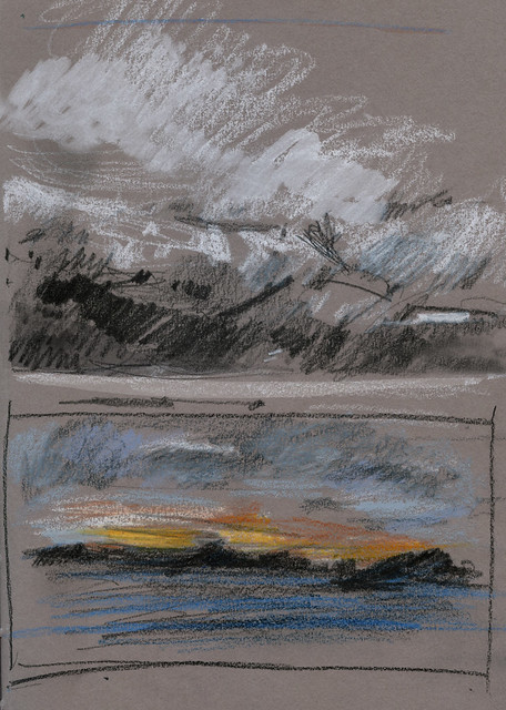 Norway 2019: thumbnail sketches from moving boat