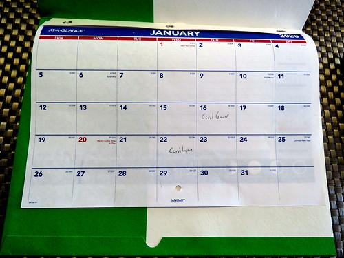 January 2020 Diary