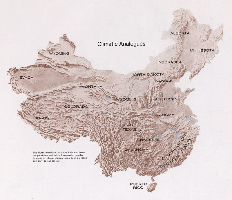The United States and China climate analogs (1971)