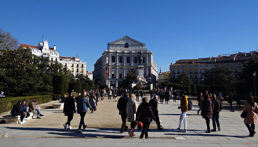 Plaza de Oriente de Madrid.