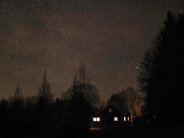 Natthimmel över Bastkullen