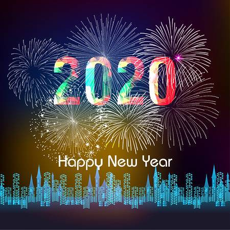 112383886-happy-new-year-2020-background-with-fireworks- | by HelmaQuilt