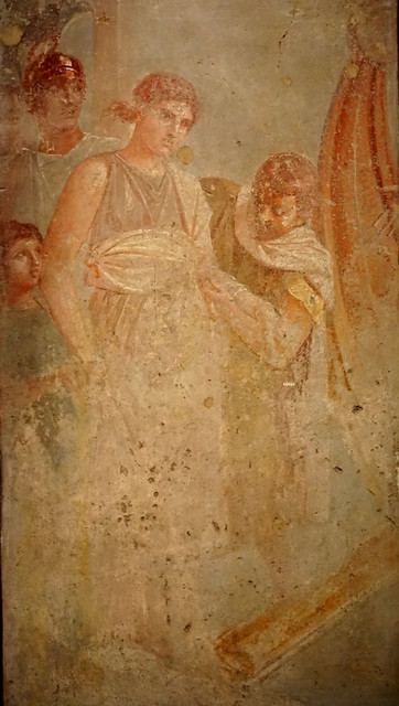 Rapte d'Hèlena, fresc de Pompeia / Abduction of Helen, fresco from Pompeii