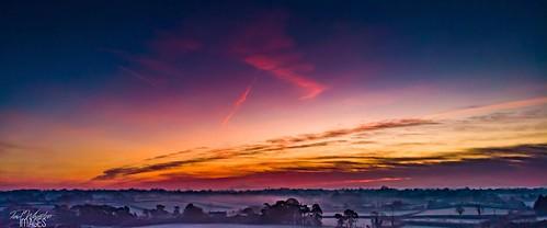 craigavon northernireland unitedkingdom drone sunrise sky mavicair
